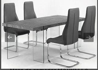 Mesa comedor color cemento