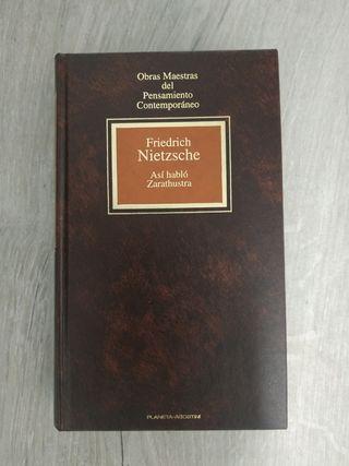 Libro Así habló Zarathustra de Friedrich Nietzsche