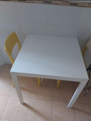 Mesa madera Ikea blanca
