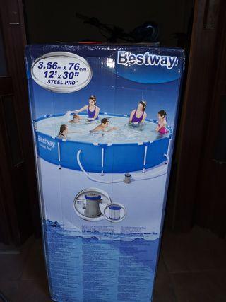 piscina desmontable con depuradora todo sin abrir