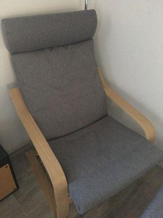 Sillón y reposapie Poang Ikea ¡NUEVO NUEVO!