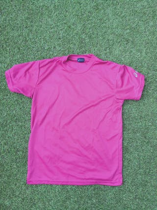 camiseta asics rosa