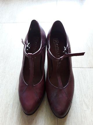 Zapato Pitillos mujer burdeos