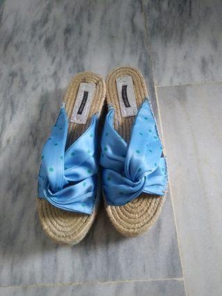 sandalias plataforma esparto