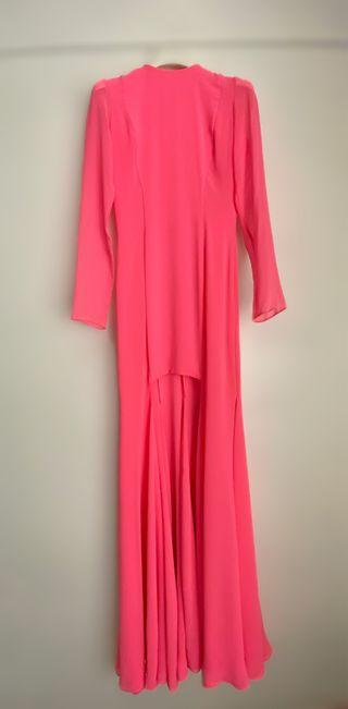 Vestido rosa flúor