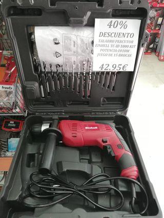 Taladro Percutor Einhell TC-ID 1000 Kit