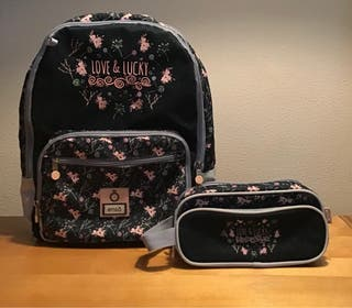 Pack mochila y estuche enso Love and Lucky