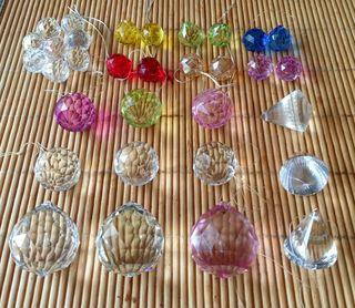 Lote 32 Bolas Feng Shui diferentes medidas y color