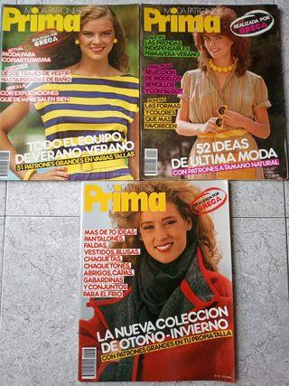 PRIMA MODA PATRONES Revistas antiguas