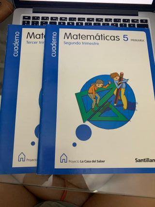 Cuadernos Matematicas 5 primaria Santillana