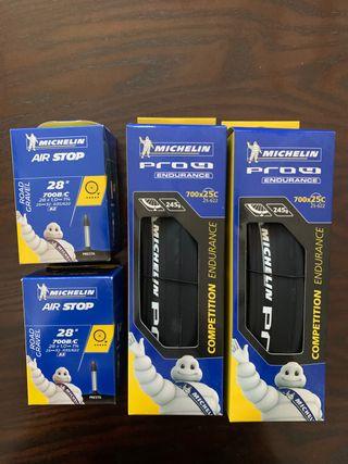 Ruedas bici Michelin PRO4 700-25C + cámaras