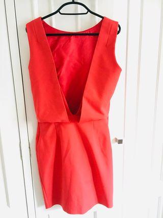 Vestido M rojo Zara