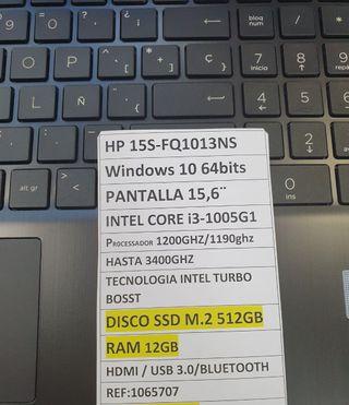 PORTATIL HP i3- 10ma generación