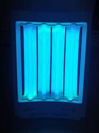 Solárium rayos UVA. Lámpara bronceado