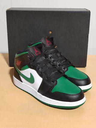 Air Jordan 1 Mid Pine Green Toe