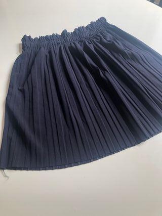 Falda niña tableada azul marino TS