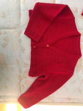 Chaqueta niña roja de 2 años