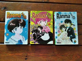 Ranma 1/2 números 36, 37 y 38 edición Glénat