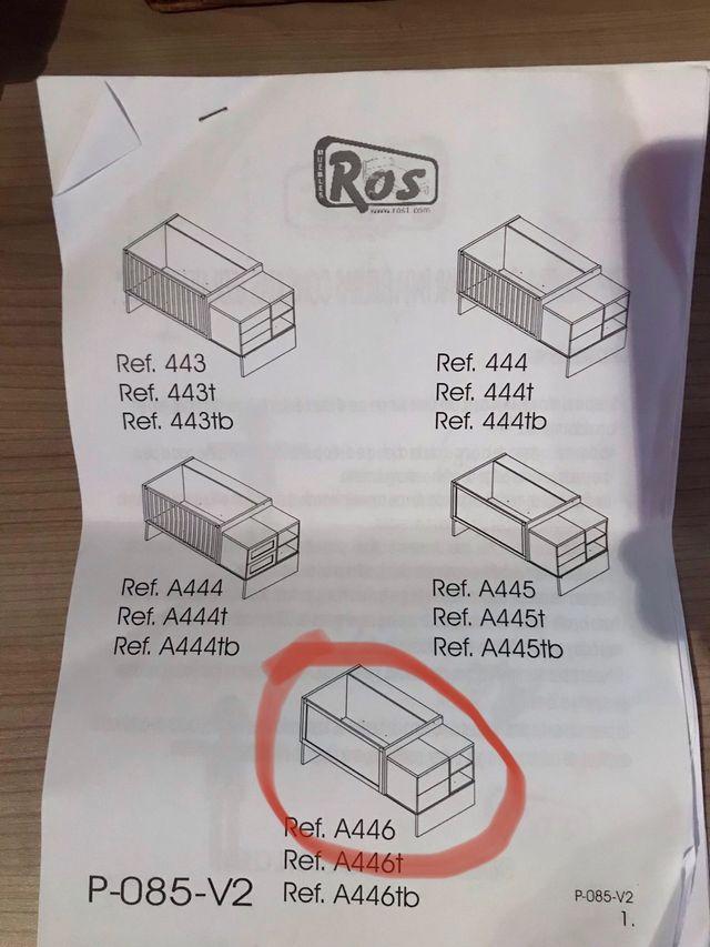Cuna convertible marca Ros