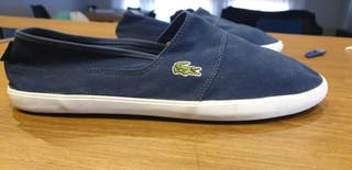 Alpargatas, zapatillas Lacoste azules hombre. 47