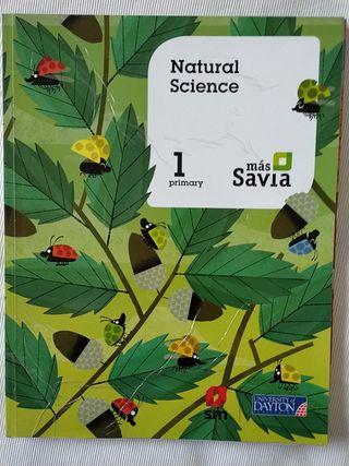 libro natural science SM más savia 1 primaria
