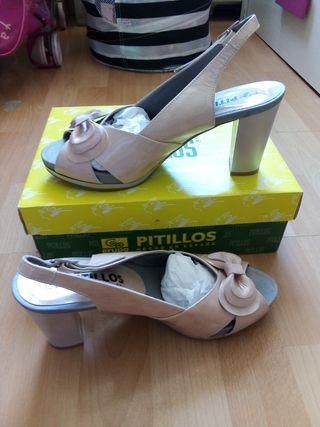 Zapatos tacón Peep Toe Pitillos NUEVOS Talla 39