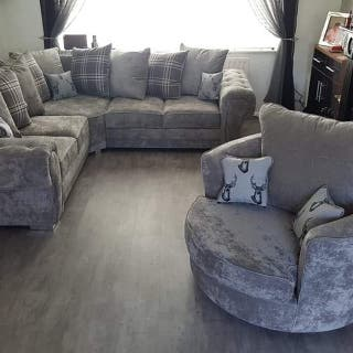 five seater corner sofa and chair