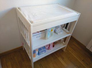 cambiador para bebés + colchón cambiador