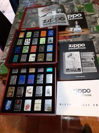 colección Zippo con expositor