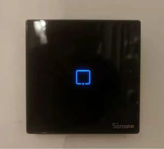Interruptor Wifi/RF Tactil Pared Sonoff T3EU Negro