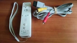 Mando Wii Motion Plus + cable AV