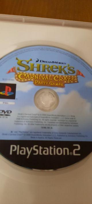 Lote 2 Juegos Sherk PS2