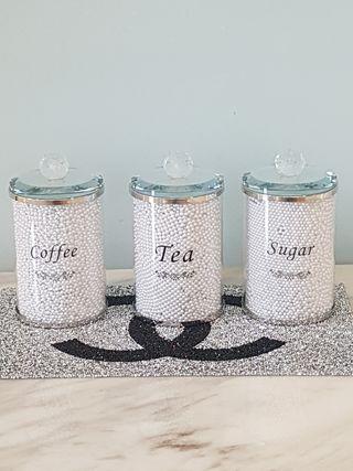 Stunning coffee tea and sugar jars brand new in bo