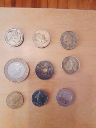 Colección de billete y monedas.