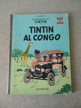 """""""TINTIN AL CONGO"""" primera edición. catalán."""
