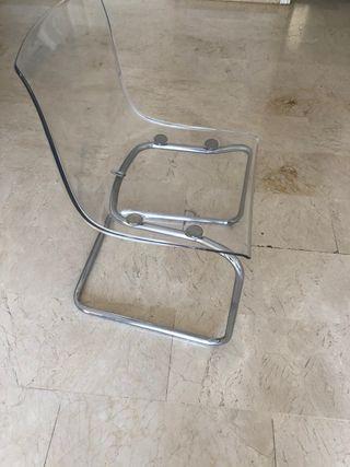2 sillas metacrilato diseño
