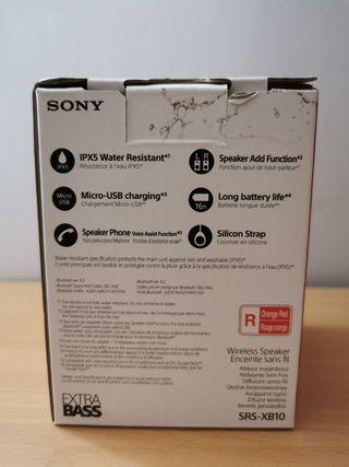 Altavoz portátil Sony SRS-XB10 bluetooth