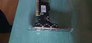 Tarjeta PCI 3 firewire