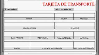 Tarjeta de transporte ligera nacional