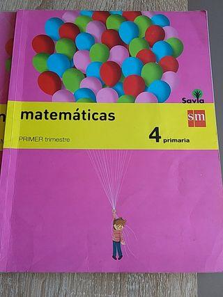 Libro 4° Primaria de Matematicas