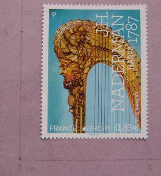 Francia 2014 Arpa música sellos nuevos. MNH