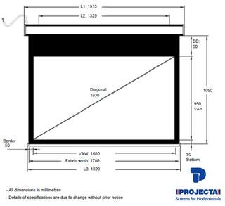Pantalla Projecta Cinelpro 102x180 (77 pulgadas)