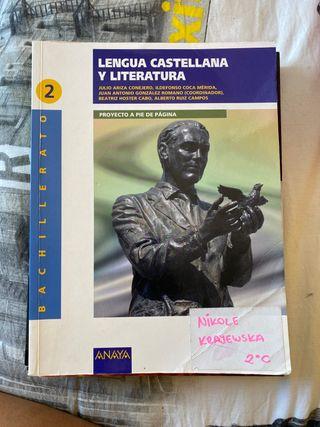 Lengua Castellana y Literatura 2Bachillerato
