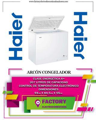 ARCON CONGELADOR HAIER 207LTS 94 X 55 X 84,5CM
