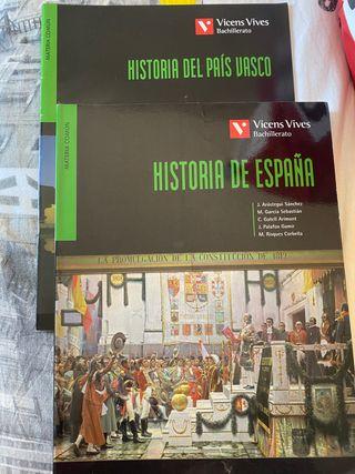 Libro Historia de España y País Vasco 2 Bachill