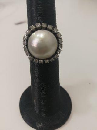 OCASION, anillo oro blanco 18 kilates,