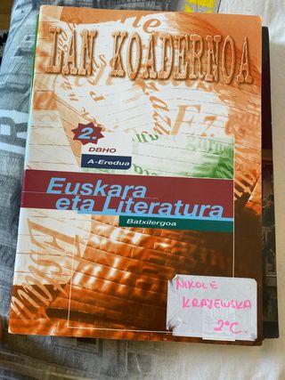 Lan Koadernoa 2 Batxilergoa Euskara eta Literatura