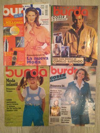 Lote revistas BURDA con patrones