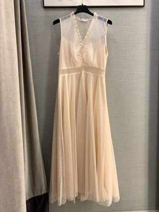 Vestido seda y tul Sandro boda civil