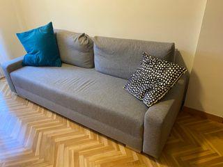 Sofá cama plegable de 3 plazas modelo IKEA GRALVIK